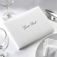 Simply Stylish Wedding Guest Book - White