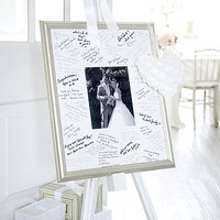 Antique Finish Silver Signing Frame