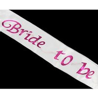 Flashing White Bride To Be Sash