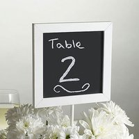 Chalkboard Table Number Signs Pack - White