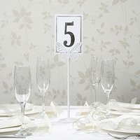 White Metal Butterfly Table Number Holder