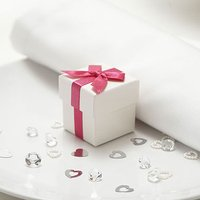 Luxury Ribbon Favour Box Pack 10 - Pastel Blue