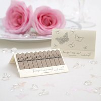 Pearl Pink or White Butterfly Seed Favours Pack - White