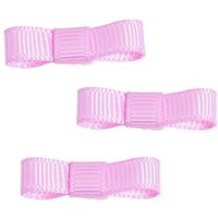 Grosgrain Ribbon Bow Favour Trim - Pastel Pink