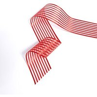 Wide Sheer Stripe Ribbon - White