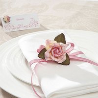 Large Open Rose Decoration Pack - Pastel Pink