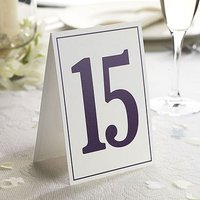 Elegant Border Wedding Table Numbers 1-15 - Burgundy