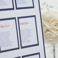 Elegant Border Table Planner For Weddings Kit A2 - Burgundy