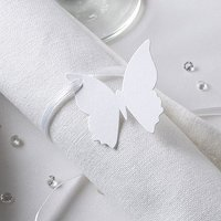 Butterfly Favour Place Tag Pack - White