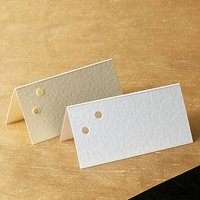 Two Hole Place Cards Pack - Ivory