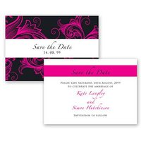 Filigree Scroll Z Fold Save the Date
