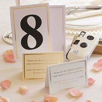 Cards for Wedding Cameras Pack - Gold