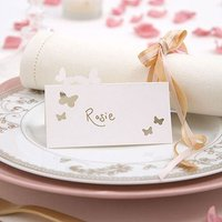 Laser Cut Out Butterfly Place Cards Pack