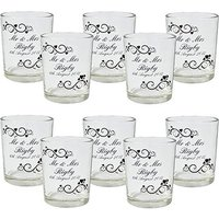 Personalised Ornate Swirl Shot Glass Votive Favour