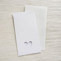 White Eco Chic DIY Large Wallet Invitation Kit - 10 Pack