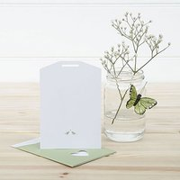 White and Sage Eco Chic Birds Design Small Insert Tag - 10 Pack