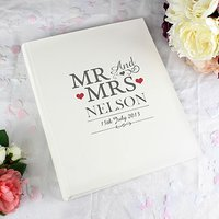 Mr & Mrs Personalised Traditional Photo Album