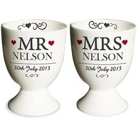 Mr & Mrs Personalised Egg Cups