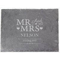 Mr & Mrs Personalised Slate Board