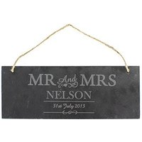 Mr & Mrs Personalised Slate Door Plaque