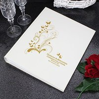 Personalised Gold Swirl Butterfly Traditional Photo Album