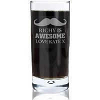 Personalised Moustache Hi Ball Glass