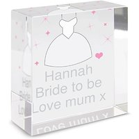 Personalised Bridal Dress Medium Block