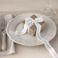 Vintage Affair - Just Married Ribbon - 4 Metres