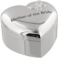 Amore Silverplated Heart Mother of the Bride Trinket Box