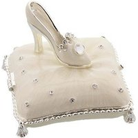 Sophia Silverplated & Epoxy Crystal Shoe Trinket Box