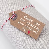 Just My Type Kraft Small Luggage Tags - 10 Pack