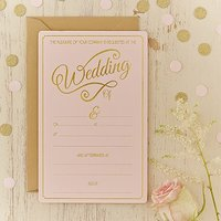 Pastel Pink Wedding Invitations