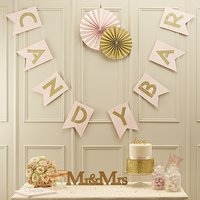 Pastel Perfection Candy Bar Flag Bunting