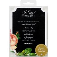Wedding Games Favour Cards Floral Chalkboard - I Spy