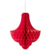 Extra Large Red Hanging Paper Honeycomb