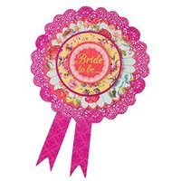 Floral Bride to Be Rosette