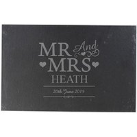 Personalised Mr & Mrs Slate Board