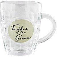 Father of the Groom Glass Tankard