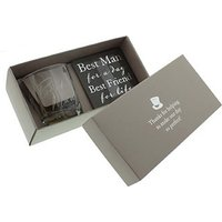 Best Man Whiskey Glass and Coaster Gift Set