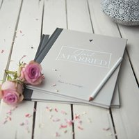 Ivory Just Married Guest Book