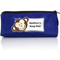 Personalised Boys Pencil Case with Monkey Face