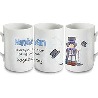 Personalised Thank You for Being Our Page Boy Mug