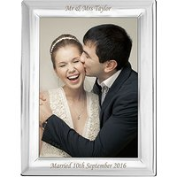 Personalised Silver Plated Photo Frame Small