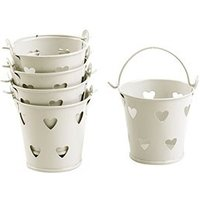 Cut Out Heart Favour Pails Pack - White