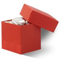Wedding Favour Boxes With Lids Pack - Tangerine Orange