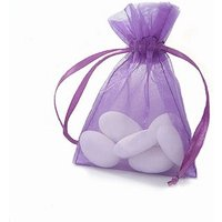 Organza Favour Bag With Drawstring Pack - Purple
