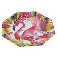 Flamingo Paper Plates - 8 Pack