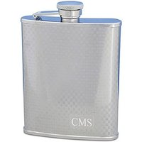 Personalised Textured 8oz Hip Flask in Stainless Steel