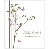 Romantic Butterfly Rectangular Label