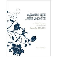 Floral Orchestra Save The Date Card
